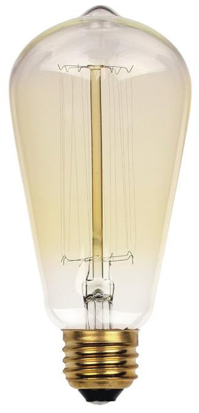 40 Watt ST20 Timeless Vintage Inspired Bulb, 2450K Clear E26 (Medium) Base, 120 Volt, Card - Lighting Getz