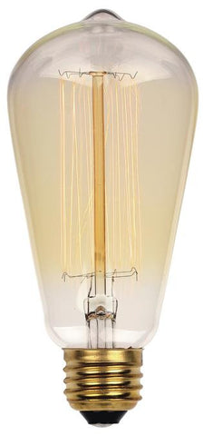 40 Watt ST20 Timeless Vintage Inspired Bulb, 2450K Clear E26 (Medium) Base, 120 Volt, Card