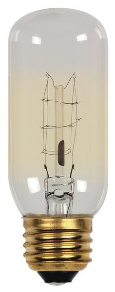 60 Watt T12 Timeless Vintage Inspired Bulb, 2450K Clear E26 (Medium) Base, 120 Volt, Card - Lighting Getz