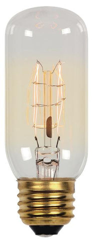 60 Watt T12 Timeless Vintage Inspired Bulb, 2450K Clear E26 (Medium) Base, 120 Volt, Card