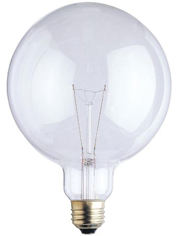 100 Watt G40 Incandescent Light Bulb, 2700K Clear E26 (Medium) Base, 120 Volt, Box