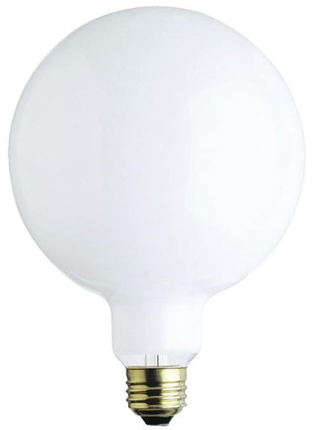 100 Watt G40 Incandescent Light Bulb, 2700K White E26 (Medium) Base, 120 Volt, Box
