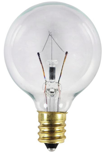 10 Watt G12 1/2 Incandescent Light Bulb, 2700K Clear E12 (Candelabra) Base, 120 Volt, Box - Lighting Getz