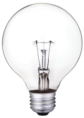 60 Watt G25 Incandescent Vibration Resistant Light Bulb, 2700K Clear E26 (Medium) Base, 130 Volt, Box
