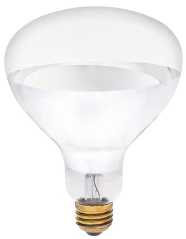 125 Watt R40 Incandescent Light Bulb, 2400K Clear Infrared Heat Flood E26 (Medium) Base, Box