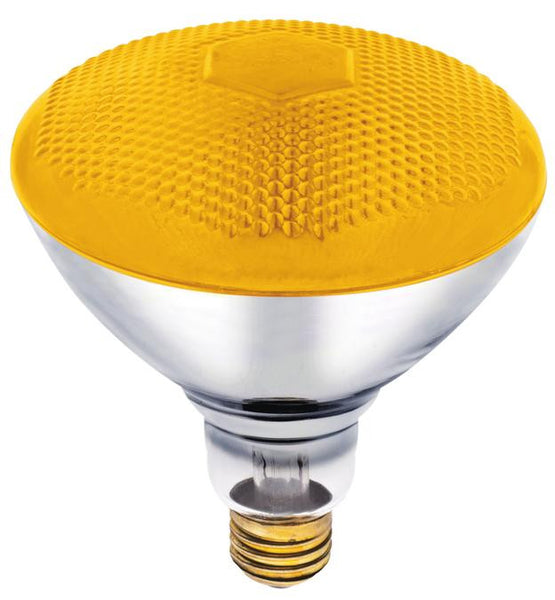 100 Watt Br38 Incandescent Bug Light Bulb Yellow Flood E26 Medium B Lighting Getz