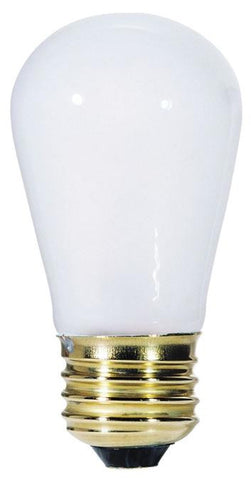 11 Watt S14 Incandescent Light Bulb, 2700K Frost E26 (Medium) Base, 130 Volt, Card