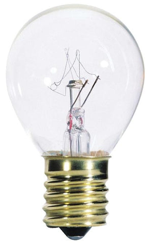10 Watt S11 Incandescent Light Bulb, 2700K Clear E17 (Intermediate) Base, 130 Volt, Card