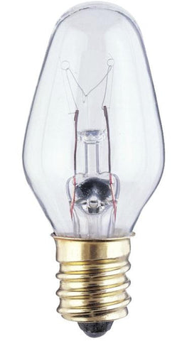 4 Watt C7 Incandescent Light Bulb, 2700K Clear E12 (Candelabra) Base, 120 Volt, Box