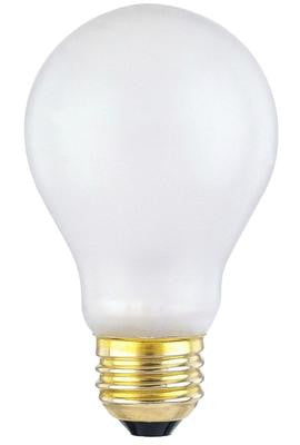 100 Watt A19 Toughshell® Incandescent Light Bulb, 2700K E26 (Medium) Base, 130 Volt, Box - Lighting Getz