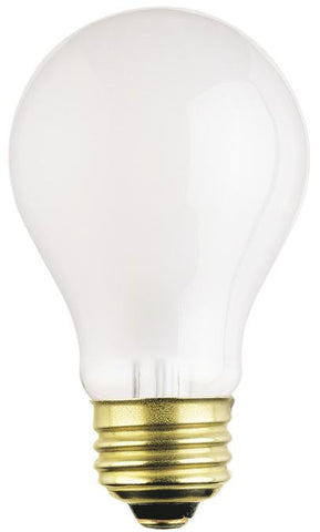 100 Watt A19 Rough Service Incandescent Light Bulb, 2700K Frost E26 (Medium) Base, 120 Volt, Box (2-Pack)