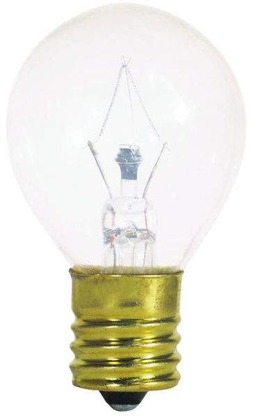 40 Watt S11 Incandescent Microwave Light Bulb, 2700K Clear E17 (Intermediate) Base, 115/125 Volt, Card - Lighting Getz
