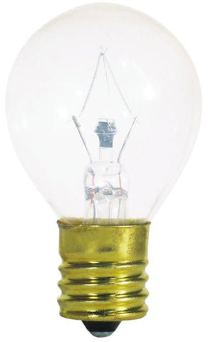 40 Watt S11 Incandescent Microwave Light Bulb, 2700K Clear E17 (Intermediate) Base, 115/125 Volt, Card