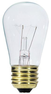 11 Watt S14 Incandescent Light Bulb, 2700K Clear E26 (Medium) Base, 130 Volt, Box - Lighting Getz