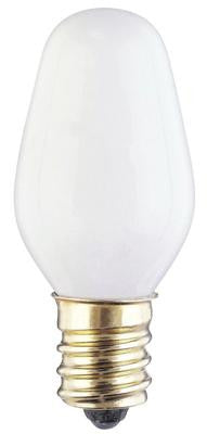 4 Watt C7 Incandescent Light Bulb, 2700K White E12 (Candelabra) Base, 120 Volt, Card (4-Pack) - Lighting Getz