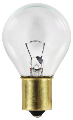 18 Watt S11 Incandescent Light Bulb, 2700K Clear S.C. Bayonet Base, 12 Volt, Card - Lighting Getz