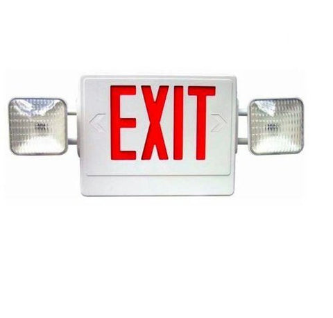 LED Exit Sign / Emergency Light Red letters
