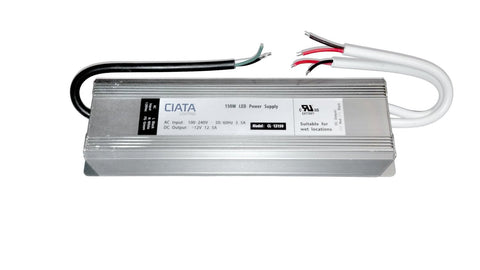LED Strip Light 12 Volt 150 Watt DC LED Power Supply Driver Transformer UL listed Suitable For Wet Location (