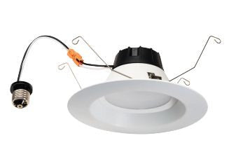 "LED Retrofit, 12 Watt LED Retrofit Module with 5""-6"" White Baffle Trim"