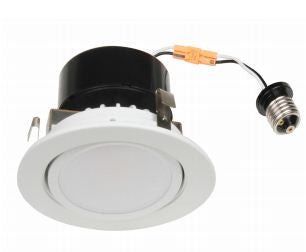 "LED Retrofit, 8 Watt LED Retrofit Module with 4"" White Gimbal Trim"