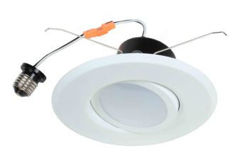 "LED Retrofit, 12 Watt LED Retrofit Module with6"" White Gimbal Trim"