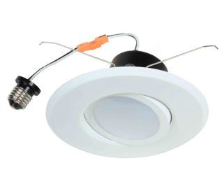 "LED Retrofit, 12 Watt LED Retrofit Module with6"" White Gimbal Trim - Lighting Getz"