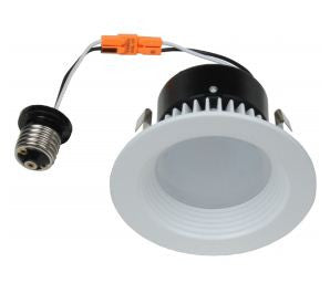 "LED Retrofit, 11 Watt LED Retrofit Module with4"" White Baffle Trim"