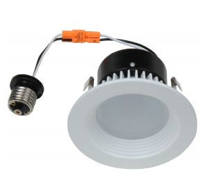 "LED Retrofit, 11 Watt LED Retrofit Module with 4"" White Baffle Trim"