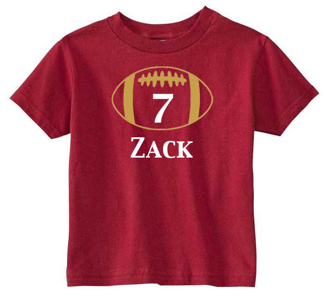 Personalized 7th Birthday Number Shirt