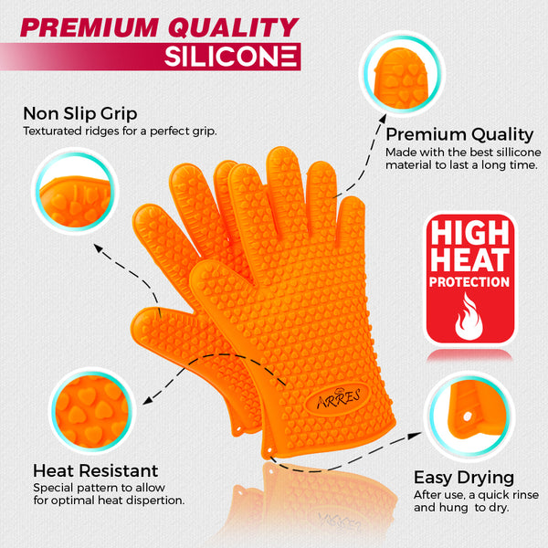 Regular Barbecue Silicone Gloves & Pulled Pork Claws Set