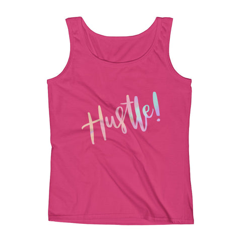 Hustle! Tank in Pink