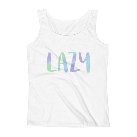 Lazy Tank in White
