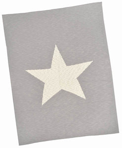 Grey with Cream Star Baby Blanket