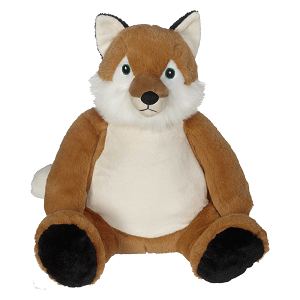 Frederick Fox Buddy (embroidered with birth announcement) - sugarplumsweeties - 1