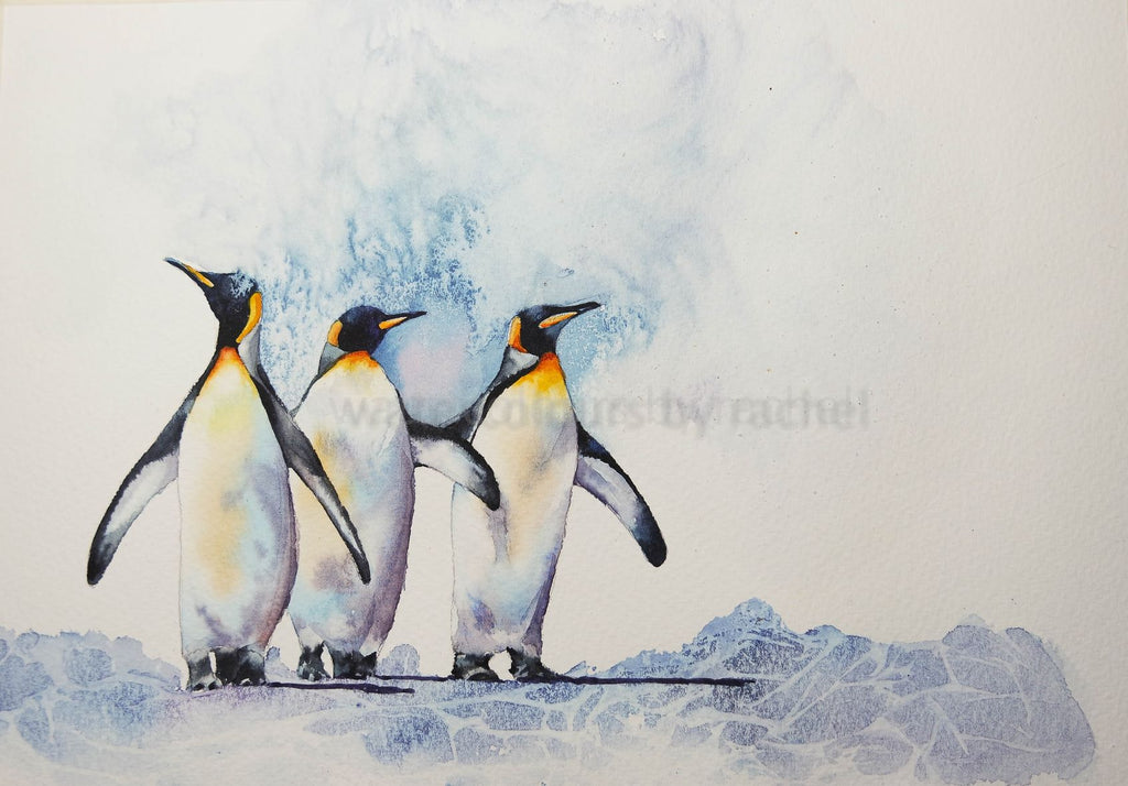 When the world goes crazy just hunker down and paint some penguins.