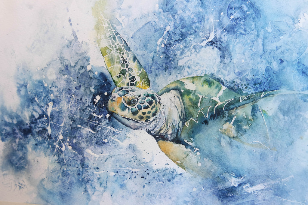 Throwing everything but the kitchen sink at it!! ( or a step by step guide to painting a turtle)