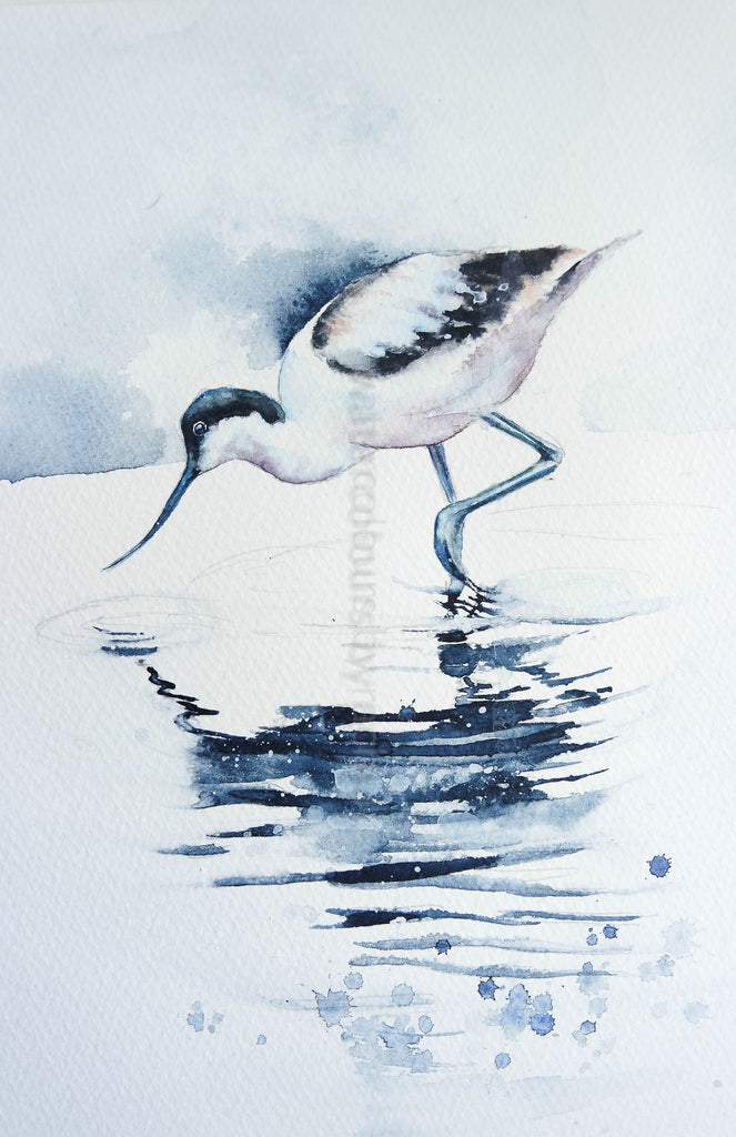 An Avocet using just 5 colours.