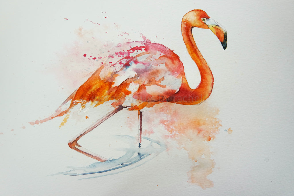 Painting a flamingo ( something to paint on a difficult day)