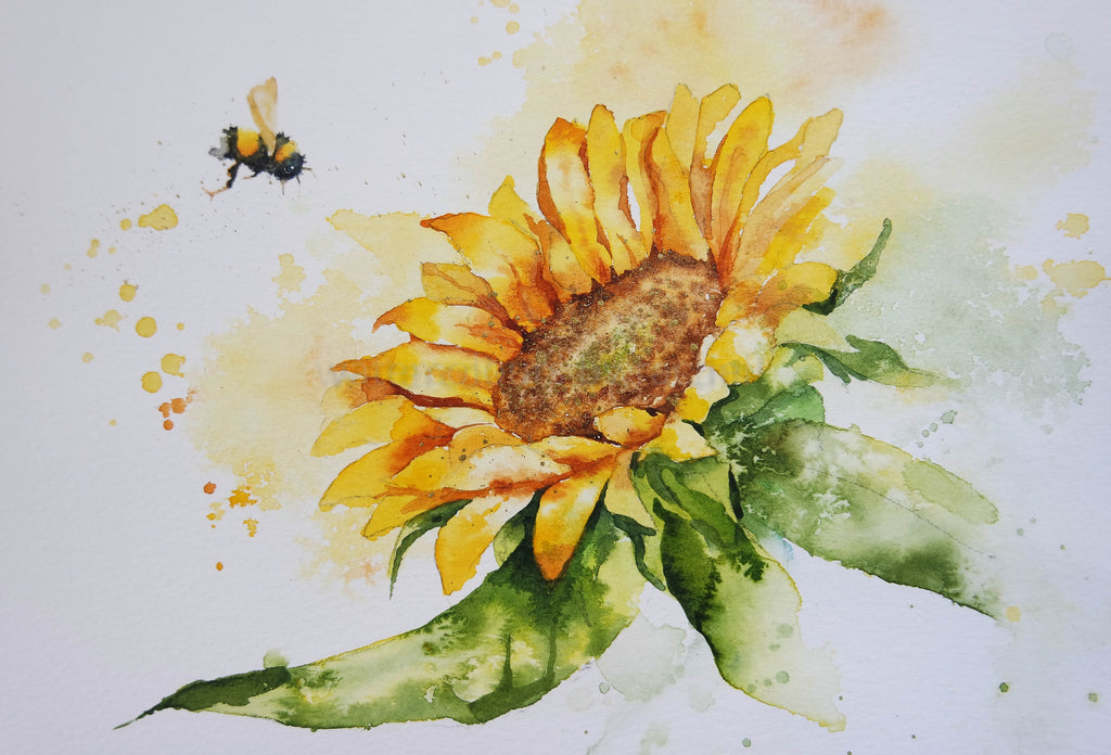 Painting sunshine ( a sunflower)