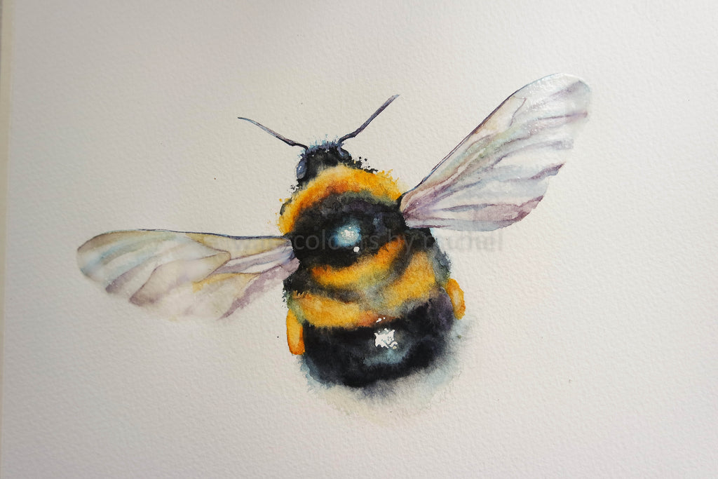 How I painted a bumble bee