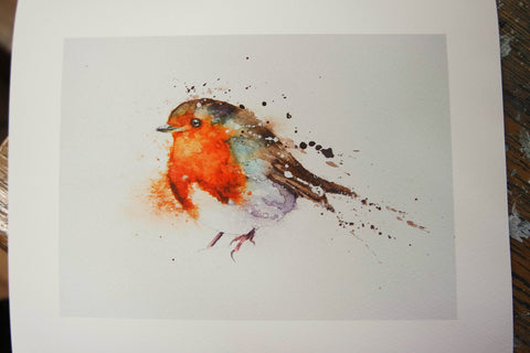 Splishy splashy robin