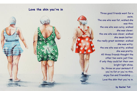 'Love the skin that you're in' vintage ( with words)