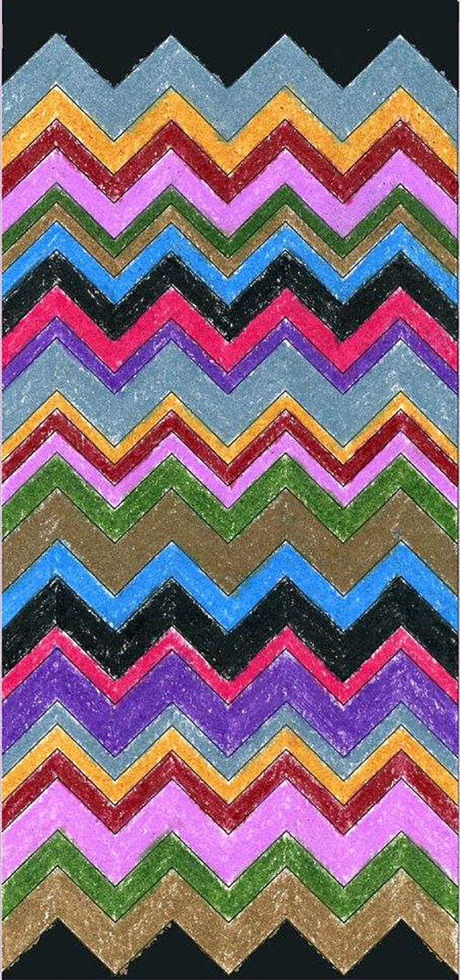 24 West Lemon Chevron Scarf Template