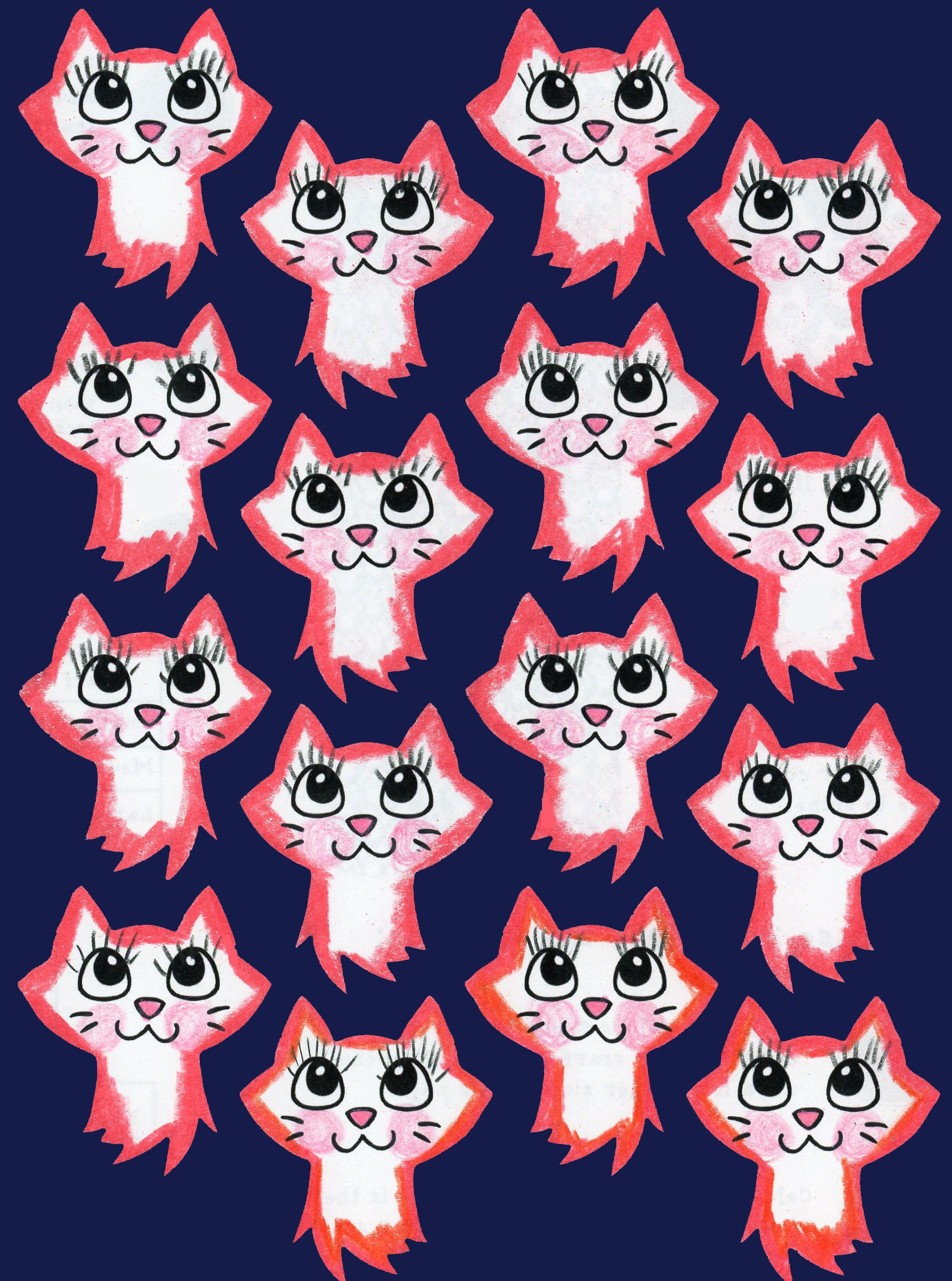 24 West Lemon Cute Cats Scarf Template