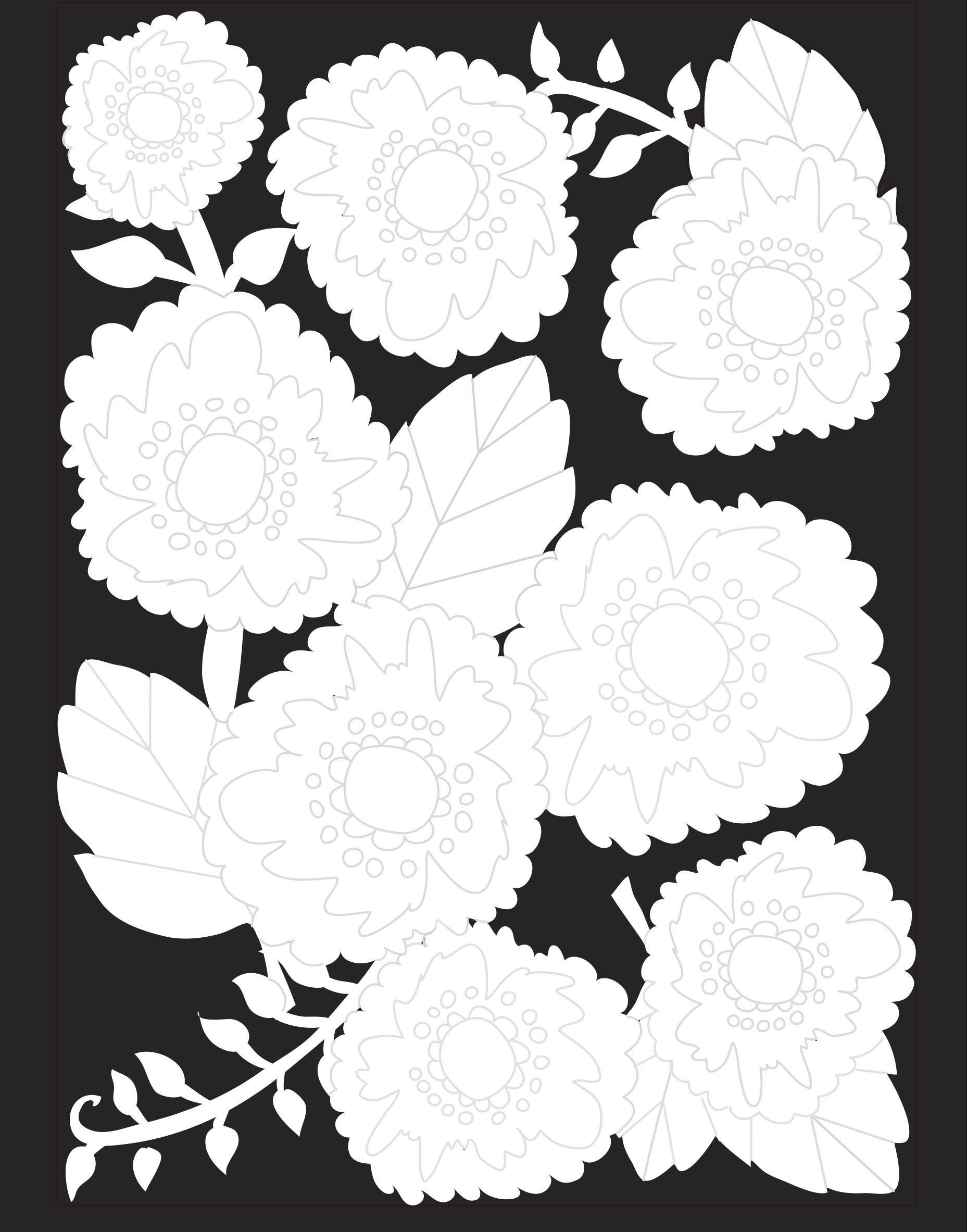 24 West Lemon Garden Scarf Template
