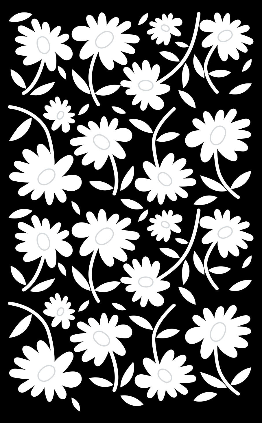 24 West Lemon Dainty Daisy Scarf Template