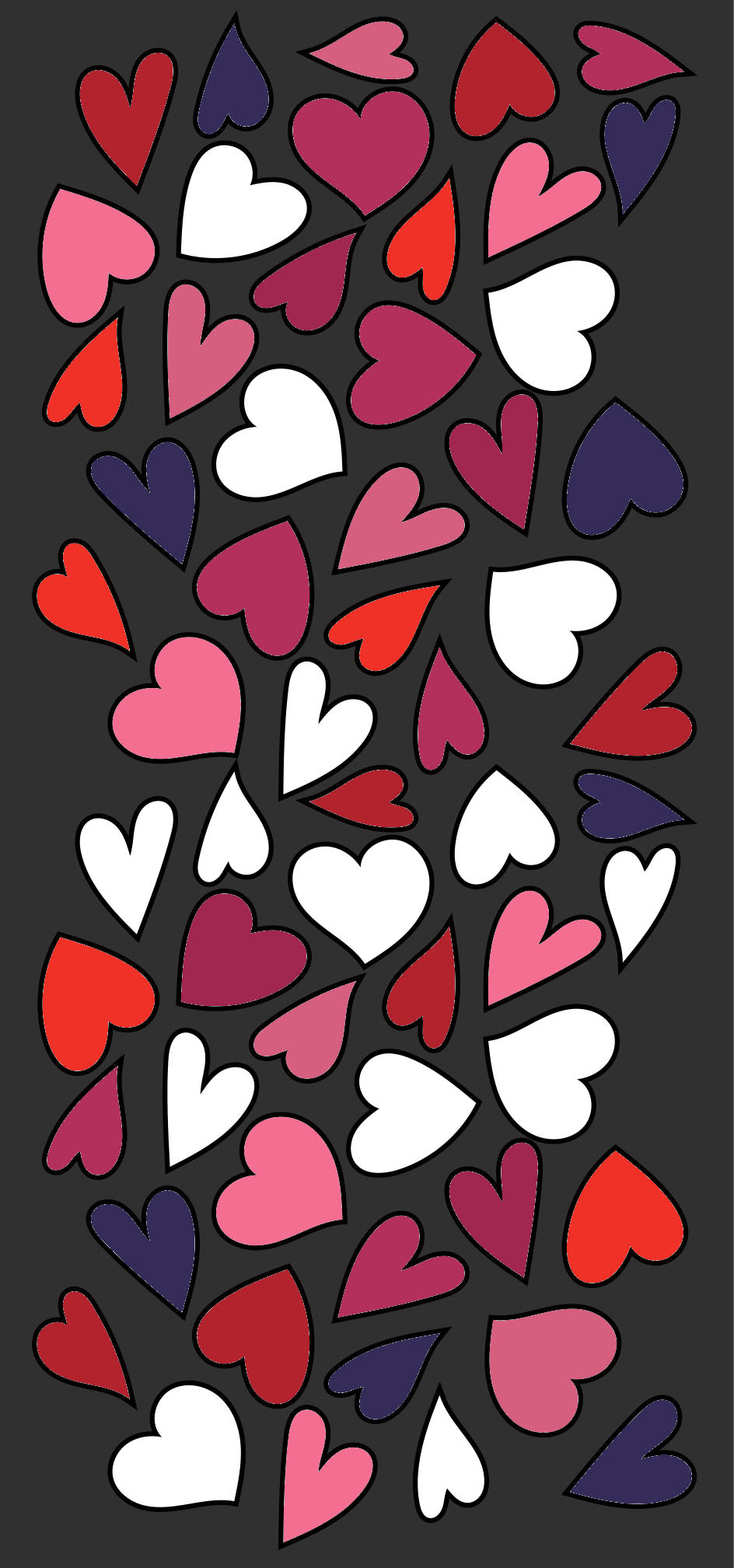 24 West Lemon Happy Hearts Scarf Template
