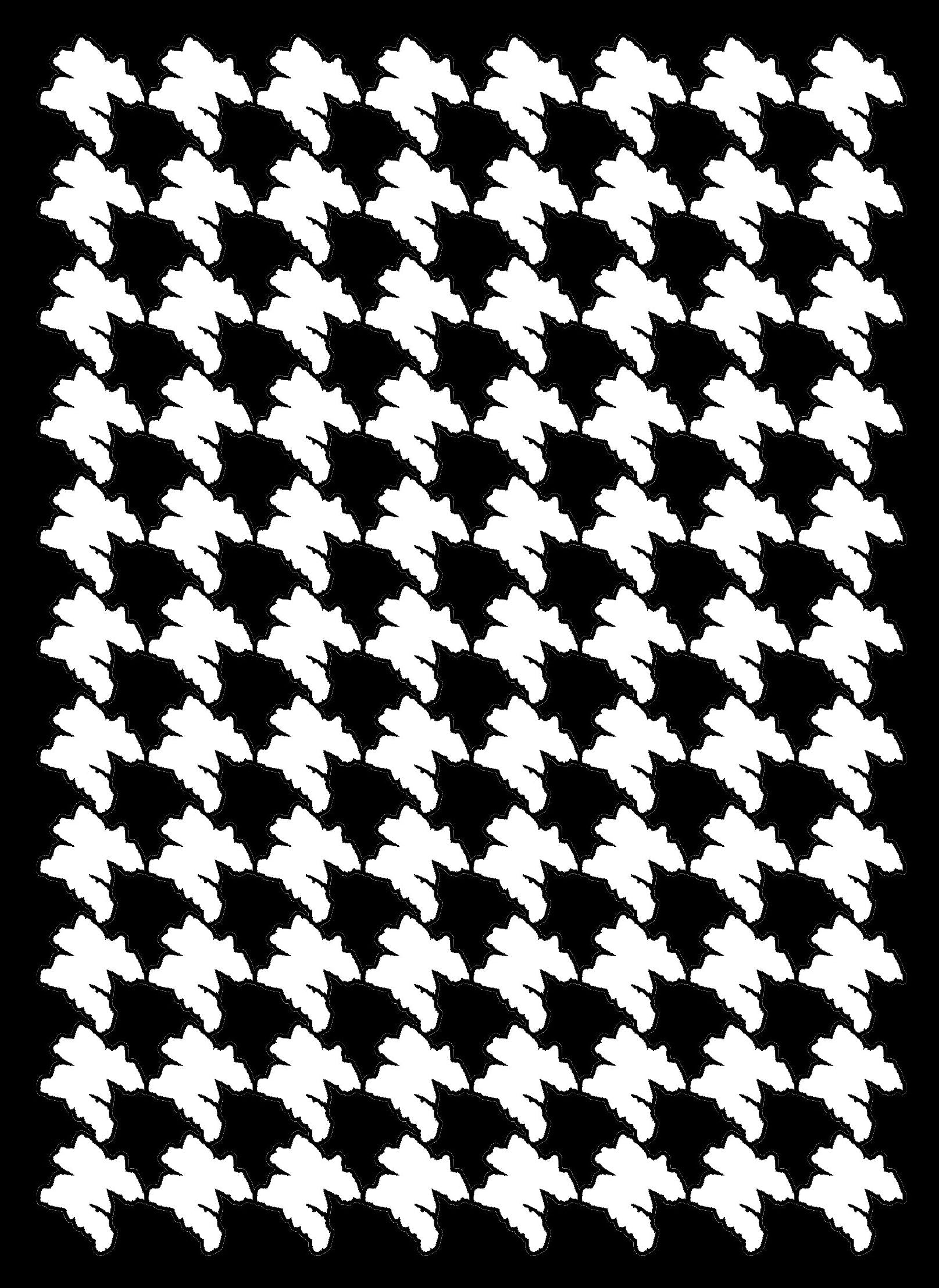 24 West Lemon Houndstooth Scarf Template
