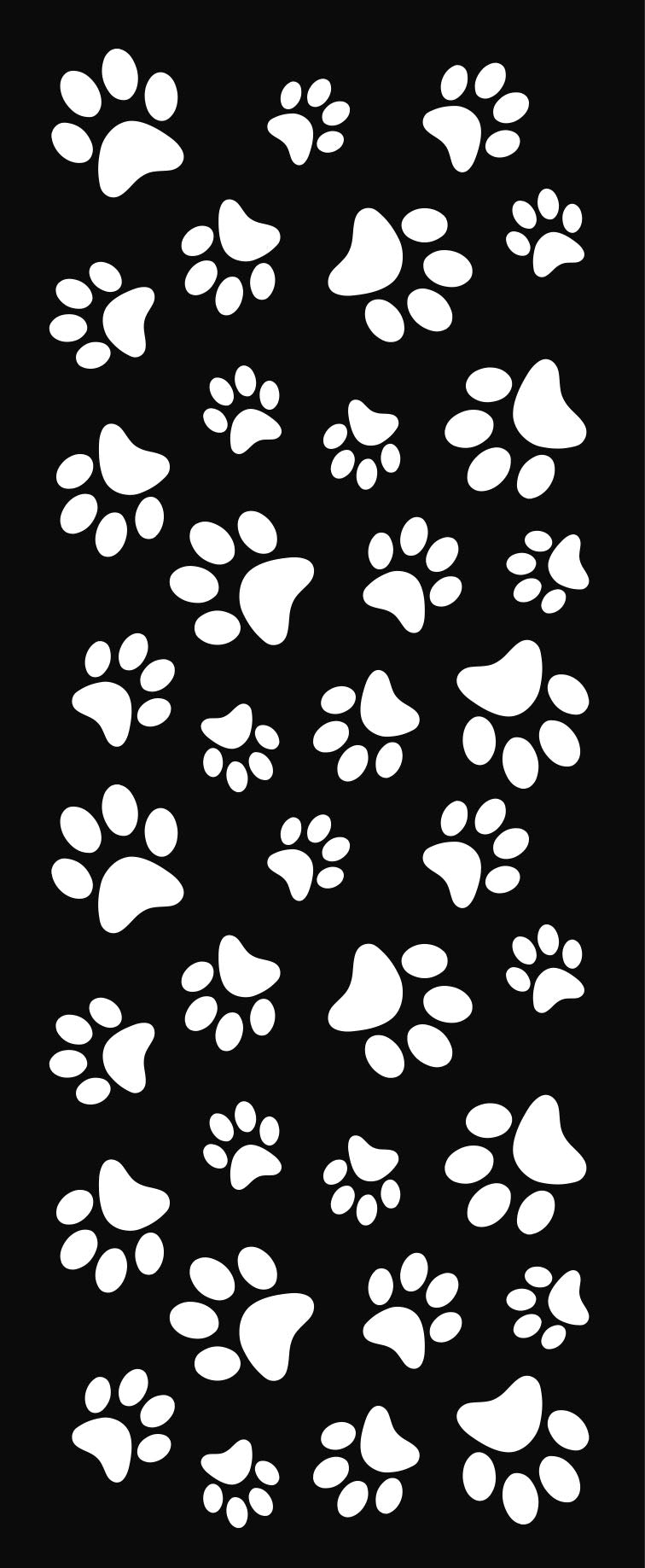24 West Lemon Paw Prints Scarf Template