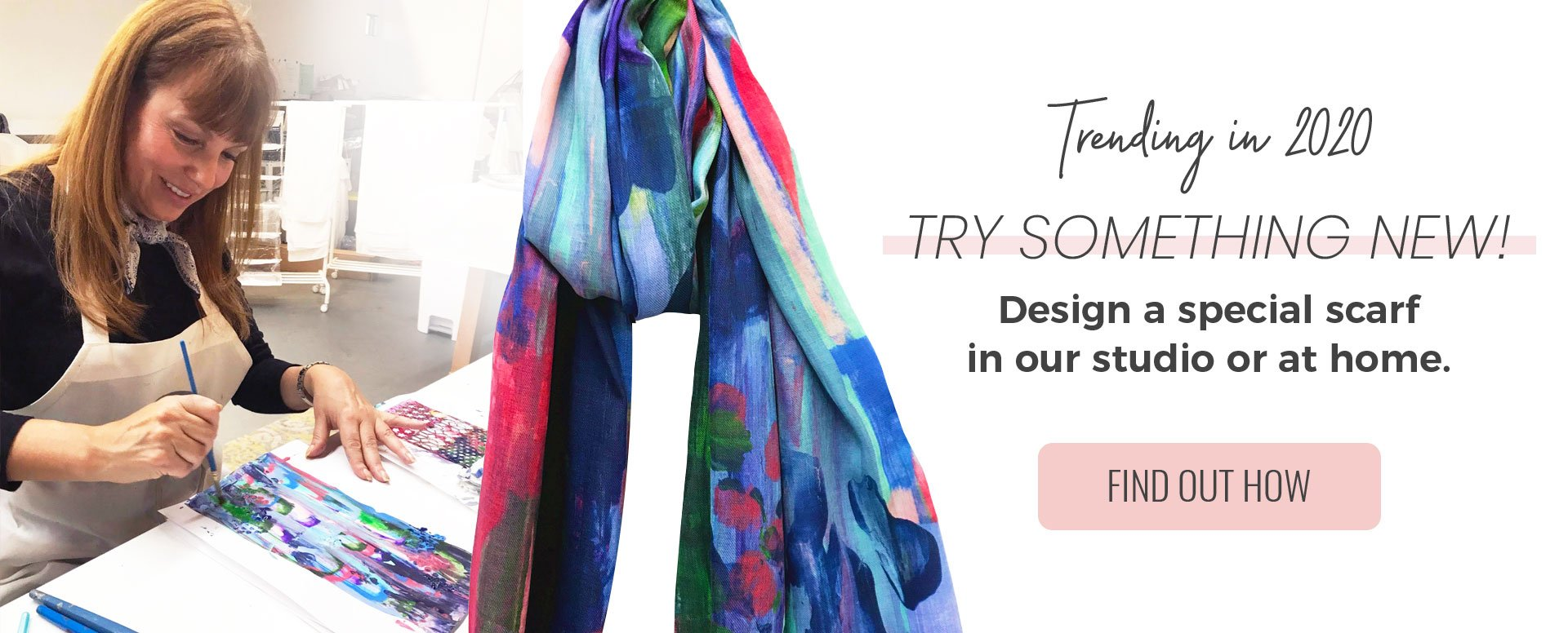 It's Scarf Season - Come into the studio and design your one-of-a-kind-scarf!